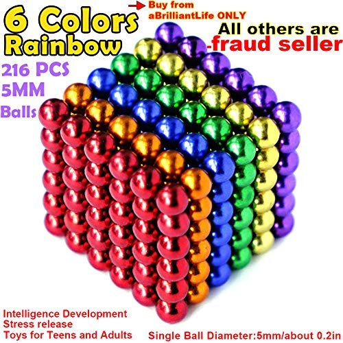 [From USA]aBrilliantLife 5MM 216 Pieces Multicolored Balls Toys Sculpture Buil