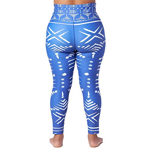 (FROM USA) African Print High Waisted Stretch Yoga Pants with Pockets Tummy Co