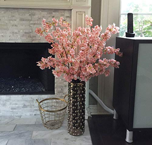 (FROM USA) Ahvoler 39 Inch Artificial Cherry Blossom Branches Flowers Silk Pea