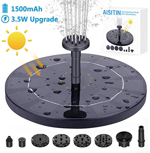 (FROM USA) AISITIN 3.5W Solar Fountain Pump, Solar Water Pump Floating Fountai