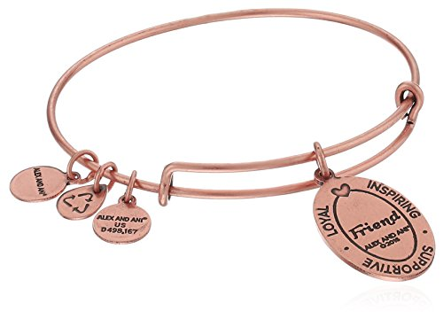 From USA Alex and Ani Because I love you, Friend II Expandable Bracelet