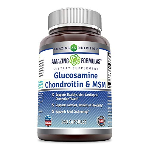 (FROM USA) Amazing Formulas Glucosamine + Chondroitin + MSM for Healthy Joint,