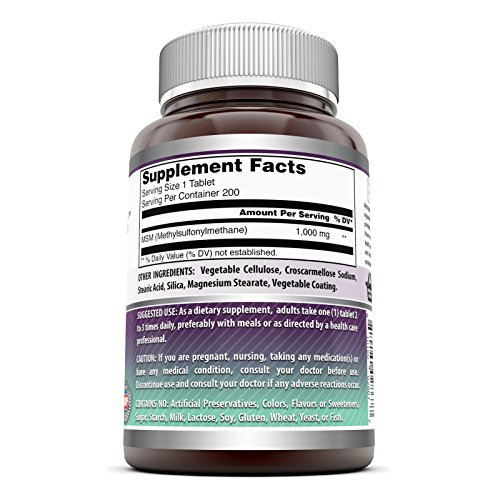 (FROM USA) Amazing Formulas MSM (Methylsulfonylmethane) Dietary Supplement –