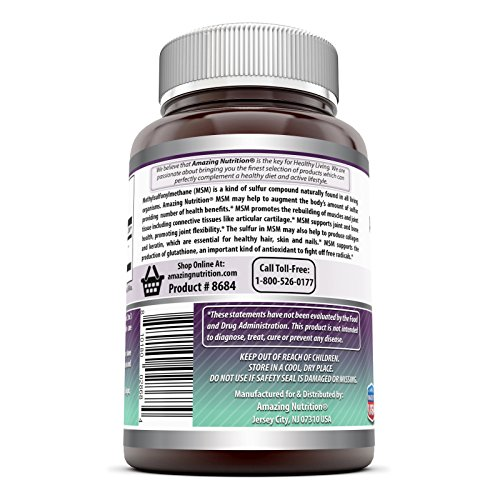 (FROM USA) Amazing Formulas OptiMSM 1000 mg 200 Tablets