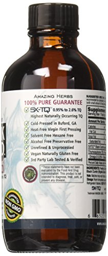 (FROM USA) Amazing Herbs Premium Black Seed Oil, 4 Fluid Ounce