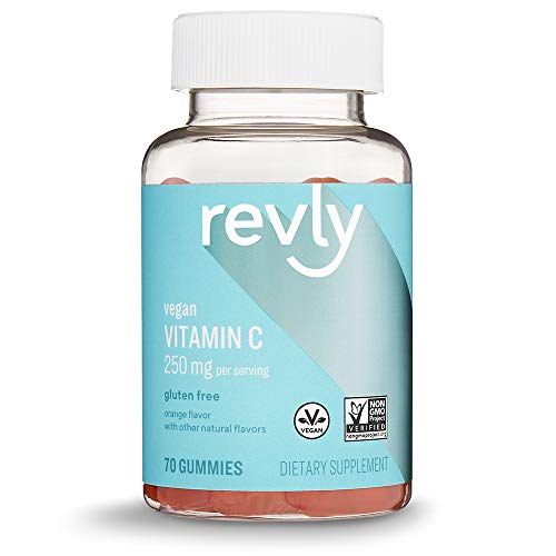 From USA Amazon Brand - Revly Vitamin C, 250 mg per Serving (2 Gummies), 70 Gu