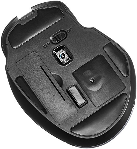 From USA AmazonBasics Compact Ergonomic Wireless PC Mouse with Fast Scrolling