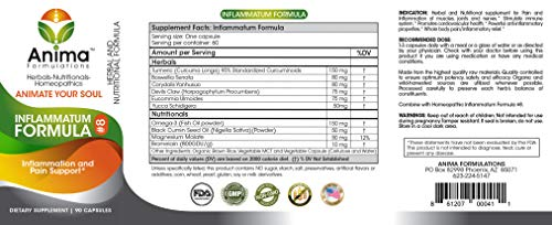 (FROM USA) Anima Formulations Inflammatum Formula #8 90 Capsules - Pain and In