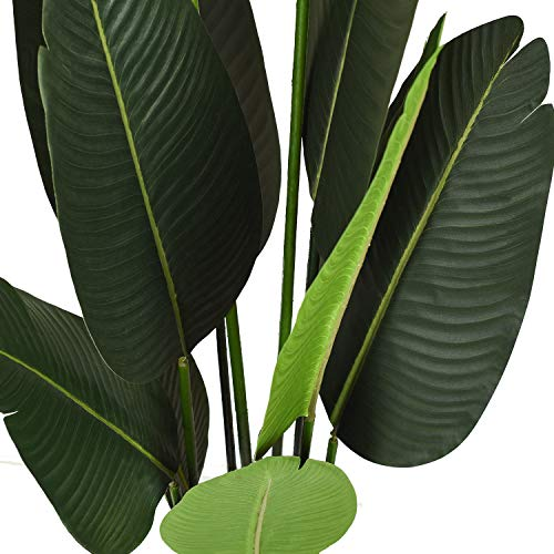 (FROM USA) Artificial Silk Bird of Paradise Palm Tree Potted Plant Fake Tropic