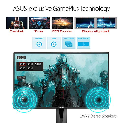 "From USA Asus VG278QR 27"" Gaming Monitor, 1080P Full HD, 165Hz (Supports 144"