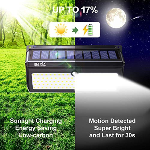 From USA BAXIA TECHNOLOGY Solar Lights Outdoor, Wireless 100 LED Solar Motion