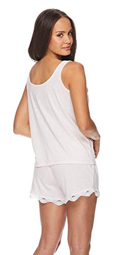 (FROM USA) bebe Womens Tie Strap Tank Top and Pajama Shorts Lounge Sleep Set B