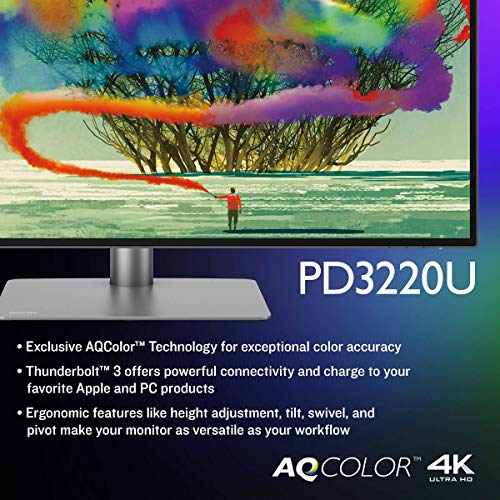 From USA BenQ PD3220U 32 inch 4K Monitor IPS, HDR, AQCOLOR, Display P3, DCI-P3