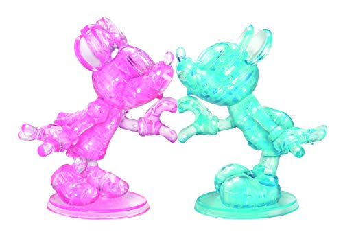 From USA BePuzzled Deluxe 3D Crystal Jigsaw Puzzle - Disney Mickey  & Minnie M