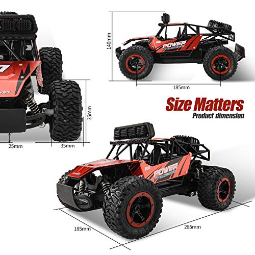From USA BEZGAR Remote Control Car, 1:14 Aluminium Alloy Off Road Large Size K