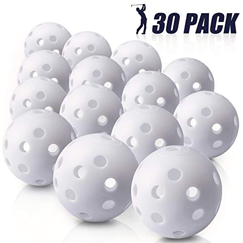 From USA Biilaflor 30 Pack Polyurethane White Plastic Golf Balls – Bulk Set