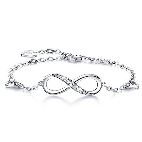 From USA Billie Bijoux Womens 925 Sterling Silver Infinity Endless Love Symbol