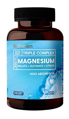 (FROM USA) BioEmblem Triple Magnesium Complex | 300mg of Magnesium Glycinate,