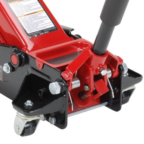From USA Blackhawk B6350 Black/Red Fast Lift Service Jack - 3.5 Ton Capacity