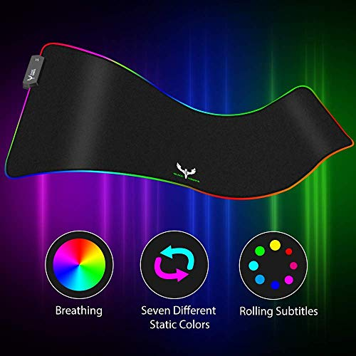 From USA Blade Hawks RGB Gaming Mouse Pad, LED Soft Extra Extended Large Mouse