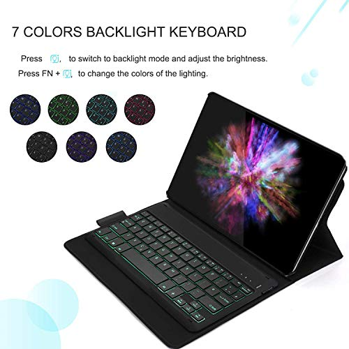From USA Bluetooth Backlit Keyboard Case for Samsung Galaxy Tab A 10.1 2019 T5