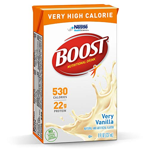 From USA BOOST Very High Calorie Complete Nutritional Drink, Very Vanilla, 8 O