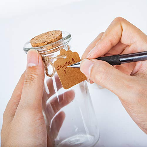 (FROM USA) Brajttt 30Pcs Glass Favor Jar with Cork Lids,Pudding Jars with Co