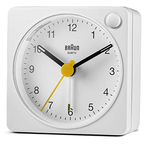 (FROM USA) Braun Classic Travel Analogue Clock with Snooze and Light, Compact
