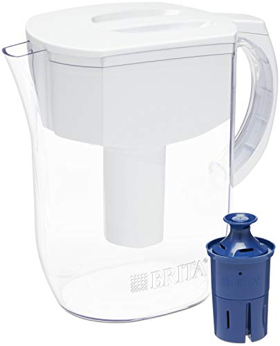 [From USA] Brita Water Pitcher with 1 Longlast Filter, Large 10 Cup, White
