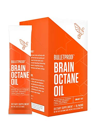 (FROM USA) Bulletproof Brain Octane C8 MCT Oil Go Packs from Pure Coconut Oil