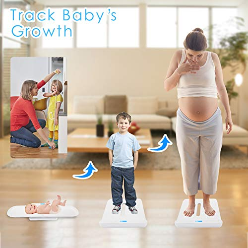 From USA BYKAZATY Pet Scale with Tape Measure, Multi-Function Baby Scale, Infa