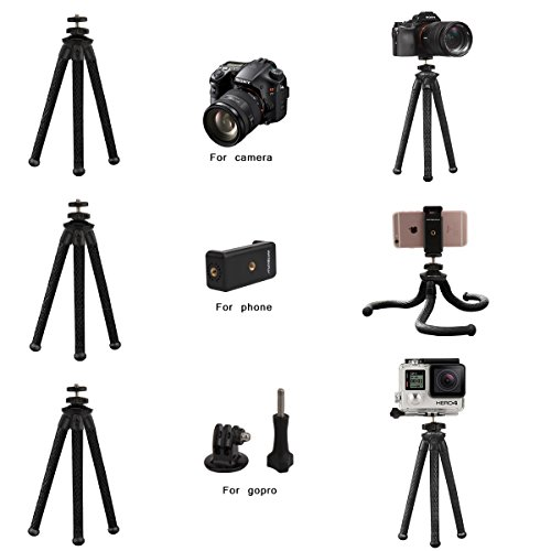 From USA Camera/Phone Tripod,Patekfly 12 Inch Flexible Camera Tripod for GoPro