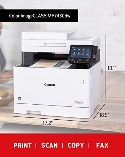 From USA Canon Color Image CLASS MF743Cdw - All in One, Wireless, Mobile Ready