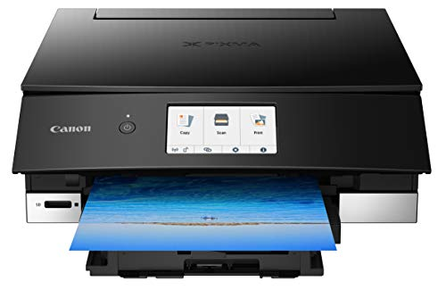 From USA Canon TS8220 Wireless All in One Photo Printer with Scannier and Copi