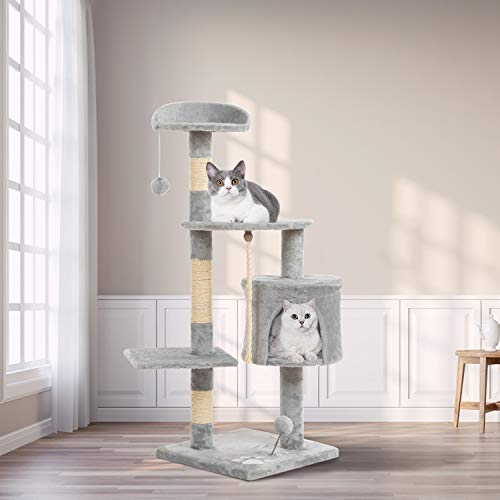 [From USA] CHARMGIRL Cat Activity Tree Tower Play Houses with Scratching Posts