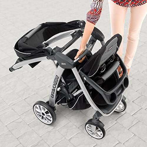 ..../ From USA/ Chicco BravoFor2 Standing/Sitting Double Stroller, Iron