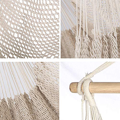 (FROM USA) Chihee Hammock Chair Super Large Hanging Chair Soft-Spun Cotton Rop