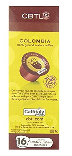 (FROM USA) The Coffee Bean  & Tea Leaf Coffee Capsules, Colombia Brew, 16 ct.