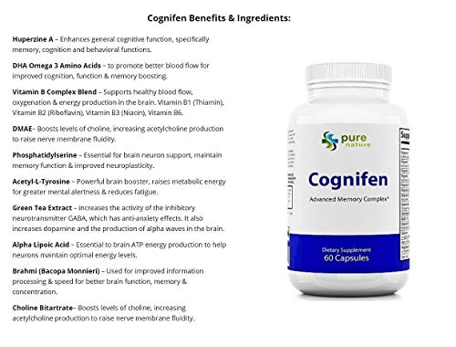 (FROM USA) Cognifen Memory Support, mental flexibility and enhanced life-long