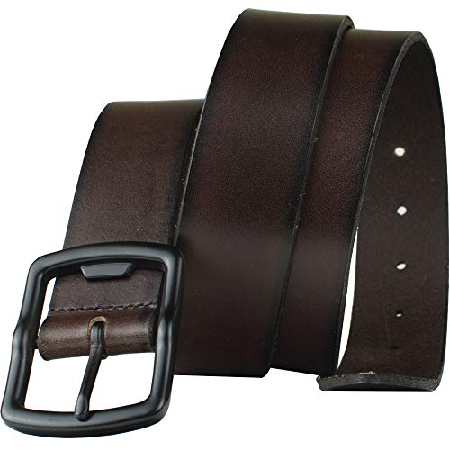 (FROM USA) Cold Mountain Brown Belt - Top Grain Leather Belt with Certified Ni