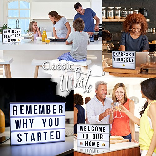 (FROM USA) Color Changing Cinema Light Box with Letters - 244 Total Letters, N