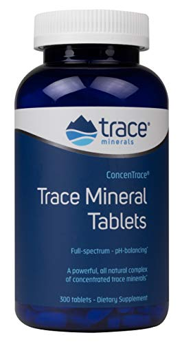 (FROM USA) CONCENTRACE Trace Mineral Tablets. 300 Tablets. Magnesium, Calcium,