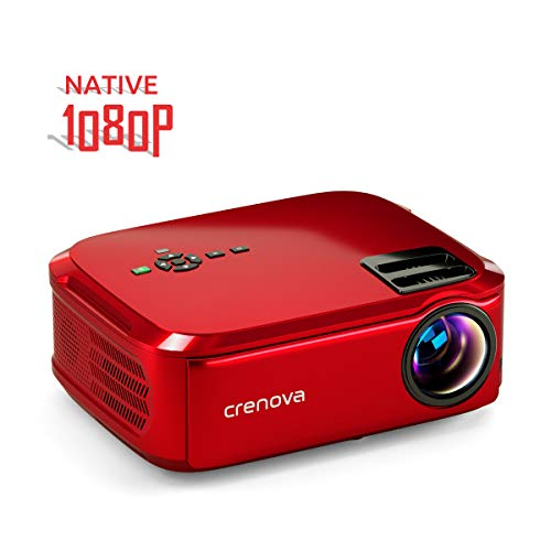 From USA Crenova Projector Native 1080p LED Video Projector, 6000 Lux HDMI Pro