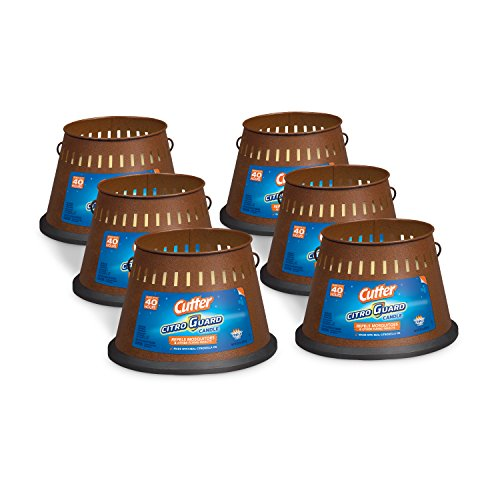 (FROM USA) Cutter Citro Guard Candle, Triple Wick, 20-Ounce, 6-Pack