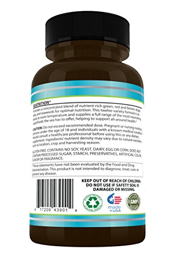 (FROM USA) Daily Health, Seatrition Immune Thyroid Support Pure 12 Whole Seawe