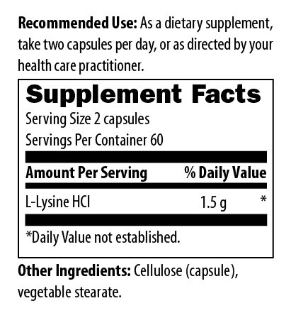 (FROM USA) Designs for Health L-Lysine HCL Capsules 1500mg - Amino Acid for Mu