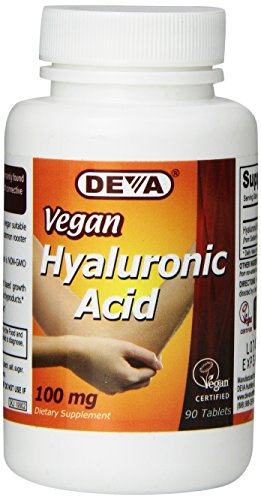 (FROM USA) Deva Nutrition Vegan Hyaluronic Acid Tablets, 100 mg, 90 Count