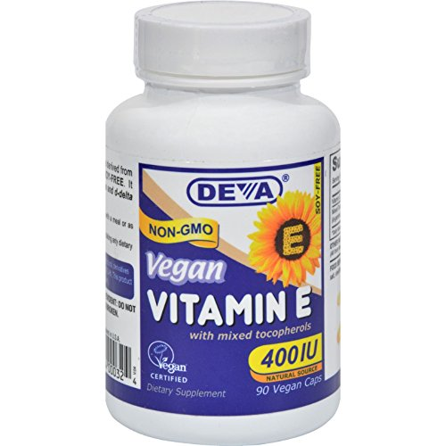 [From USA] Deva Vegan Vitamins Natural Vitamin E 400iu with Mixed Tocopherols