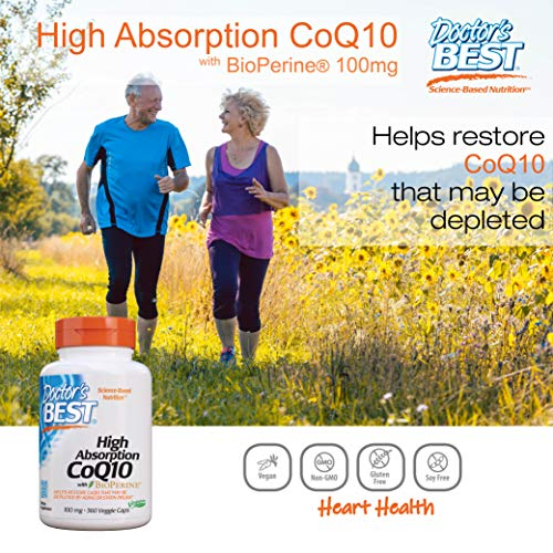 (FROM USA) Doctor's Best High Absorption CoQ10 with BioPerine, Gluten Free, Na