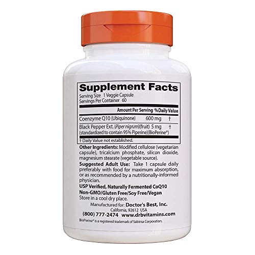 (FROM USA) Doctor's Best High Absorption CoQ10 with BioPerine, Non-GMO, Vegan,